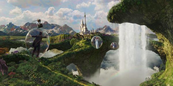 O visual impressionante da terra fantástica de Oz