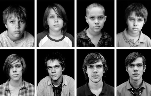 Fotos de Mason em diferentes anos