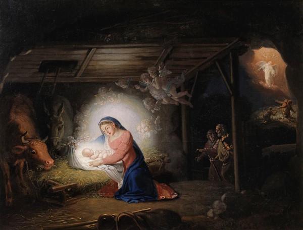 "Pintura ""The Nativity of Christ"", de Vladimir Borovikovsky"
